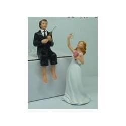 Svatební pár - ženich s prutem