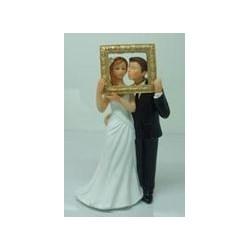 Svatební pár - sedící postavy