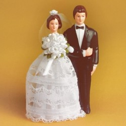 Svatební pár - postavy s rámem