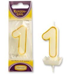 """Dortová svíčka číslo """"1"""""""
