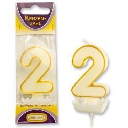 """Dortová svíčka číslo """"2"""""""