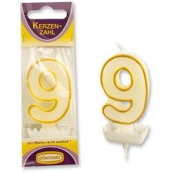 """Dortová svíčka číslo """"9"""""""