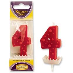 """Dortová svíčka číslo """"4"""""""