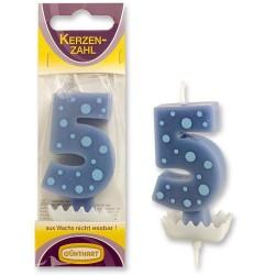 """Dortová svíčka číslo """"5"""""""