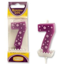 """Dortová svíčka číslo """"7"""""""