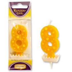 """Dortová svíčka číslo """"8"""""""