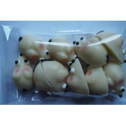 Myšky - marcipánová ozdoba na dort
