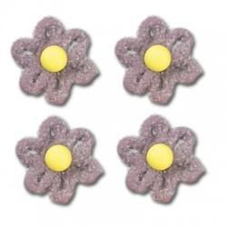 Cukrové květy na dort - fialové