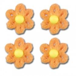 Cukrové květy na dort - oranžové