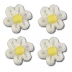 Cukrové květy na dort - bílé