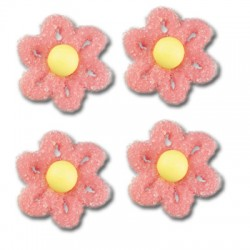 Cukrové květy na dort - růžové