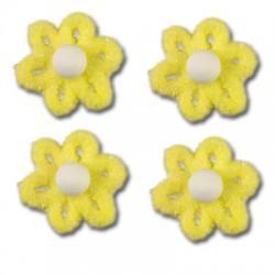 Cukrové květy na dort - žluté