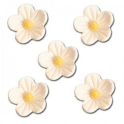 Květy z cukrové hmoty - bílé