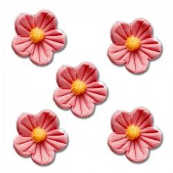 Květy z cukrové hmoty - růžové