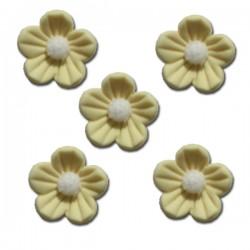 Květy z cukrové hmoty - žluté