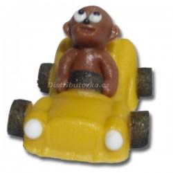 Marcipánové auto Comic s figurkou žluté
