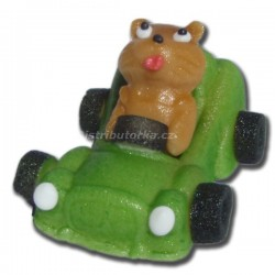 Marcipánové auto Comic s figurkou zelené