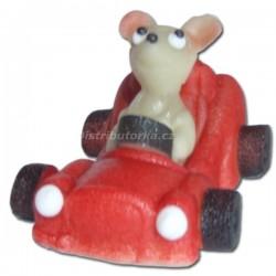 Marcipánové auto Comic s figurkou červené