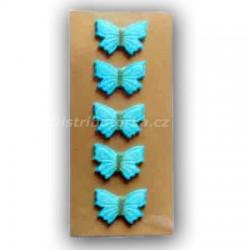 Marcipánový motýlek na dort modrý
