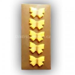 Marcipánový motýlek na dort žlutý