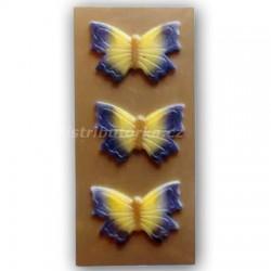 Motýlek na dort střední fialový