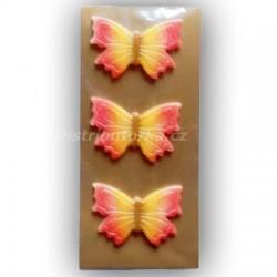 Motýlek na dort střední červený