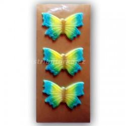 Motýlek na dort střední modrý