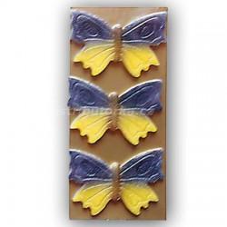 Marcipánový motýl na dort velký fialový