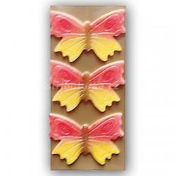 Marcipánový motýl na dort velký červený