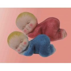 Spící miminko modré
