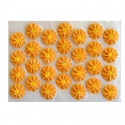 Cukrové kytičky - Gerberky oranžové 28 ks