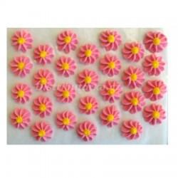 Cukrové kytičky - Gerberky růžové 28 ks