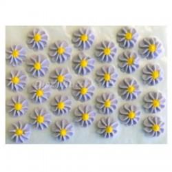 Cukrové kytičky - Gerberky fialové 28 ks