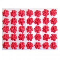 Cukrové květy - Karafiátky červené 35 ks