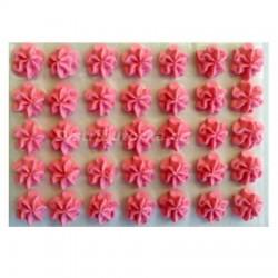 Cukrové květy - Karafiátky růžové 35 ks