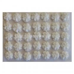 Cukrové květy - Karafiátky bílé 35 ks