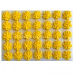 Cukrové květy - Karafiátky žluté 35 ks