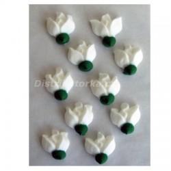 Cukrové květy - Růže bílé 10 ks