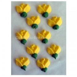Cukrové květy - Žluté 10 ks