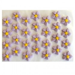 Cukrové kytičky - Jiřiny fialové 28 ks