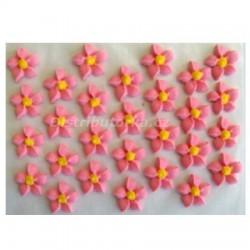 Cukrové kytičky - Jiřiny růžové 28 ks