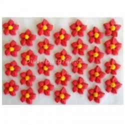 Cukrové kytičky - Jiřiny červené 28 ks