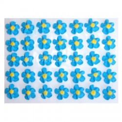Cukrové květy točené - modré 35 ks