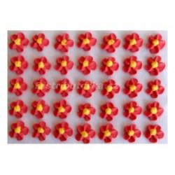 Cukrové květy točené - červené 35 ks