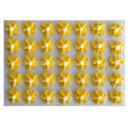 Cukrové květy točené - žluté 35 ks