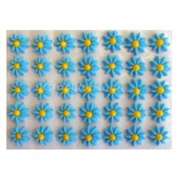 Cukrové květy - Astry modré 35 ks