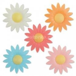 Oplatkové květy - barevný mix 100kusů