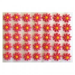 Cukrové květy - Astry červené 35 ks