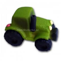 Marcipánový traktor - zelený