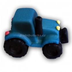 Marcipánový traktor - modrý